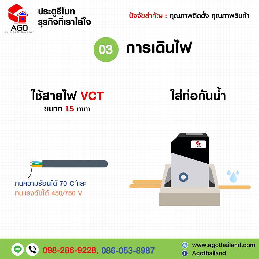 ประตูรีโมท-agothailand-คุณภาพงานติดตั้ง-03-การเดินไฟ